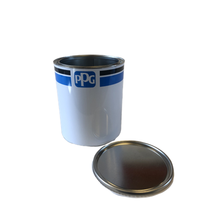 empty-can-with-ppg-logo-blue-black-stripe-3-5-l